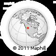 Outline Map of Trego, rectangular outline