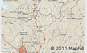 Shaded Relief Map of Linz