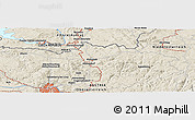 Shaded Relief Panoramic Map of Linz