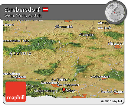 Free Satellite Panoramic Map Of Strebersdorf