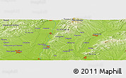 "Physical Panoramic Map of the area around 48° 30' 27"" N, 17° 55' 29"" E"