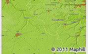 """Physical Map of the area around 48°30'27""""N,1°46'29""""E"""