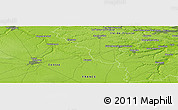 """Physical Panoramic Map of the area around 48°30'27""""N,1°46'29""""E"""