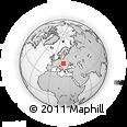 Outline Map of Gemerské Teplice, rectangular outline