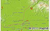 Physical Map of Uzhhorod