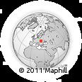 Outline Map of Uzhhorod, rectangular outline