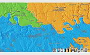 Political 3D Map of Chernavka