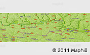 """Physical Panoramic Map of the area around 48°30'27""""N,27°16'29""""E"""
