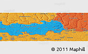 """Political Panoramic Map of the area around 48°30'27""""N,27°16'29""""E"""