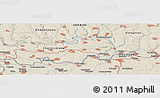 """Shaded Relief Panoramic Map of the area around 48°30'27""""N,27°16'29""""E"""