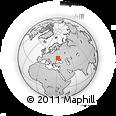 Outline Map of Kirovohrad, rectangular outline