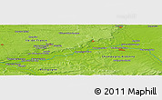 Physical Panoramic Map of Provins
