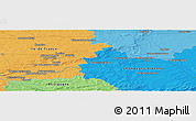 Political Panoramic Map of Provins