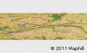 Satellite Panoramic Map of Provins