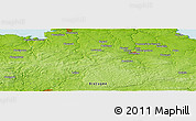 """Physical Panoramic Map of the area around 48°30'27""""N,3°19'30""""W"""