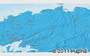 Political 3D Map of Brest