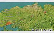 Satellite 3D Map of Brest