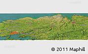 Satellite Panoramic Map of Brest