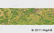 Satellite Panoramic Map of Nancy