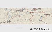 Shaded Relief Panoramic Map of Nancy