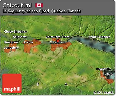 Free Satellite Map of Chicoutimi