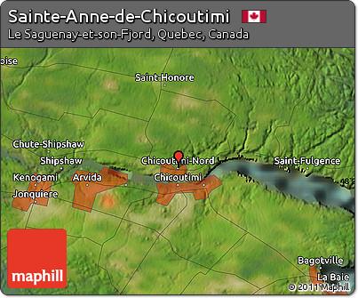 Free Satellite Map of SainteAnnedeChicoutimi