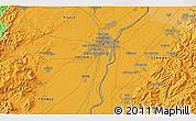 Political 3D Map of Strasbourg