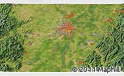 Satellite 3D Map of Strasbourg