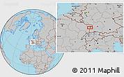 Gray Location Map of Strasbourg