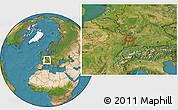 Satellite Location Map of Strasbourg