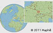 Savanna Style Location Map of Strasbourg