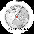 Outline Map of Wernau, rectangular outline