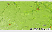 """Physical 3D Map of the area around 48°54'57""""N,0°55'29""""E"""