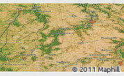 """Satellite 3D Map of the area around 48°54'57""""N,0°55'29""""E"""