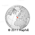 Outline Map of Flers, rectangular outline
