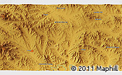 """Physical 3D Map of the area around 48°54'57""""N,103°46'30""""E"""