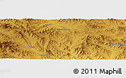 """Physical Panoramic Map of the area around 48°54'57""""N,103°46'30""""E"""