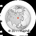Outline Map of Hereheiin Dugang, rectangular outline