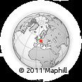 Outline Map of Aalen, rectangular outline