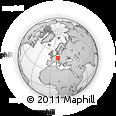 Outline Map of Kelheim, rectangular outline