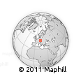 Outline Map of Innernzell, rectangular outline