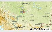 Physical 3D Map of České Budějovice