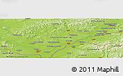 Physical Panoramic Map of Hodonín