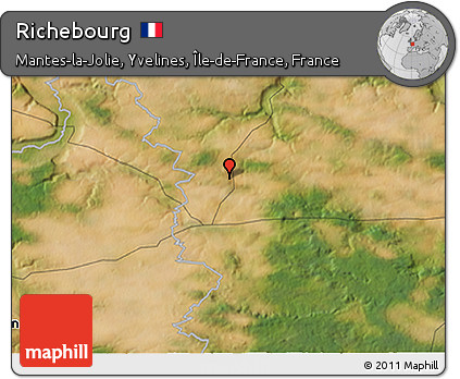 Map Of Yvelines France.Free Satellite 3d Map Of Richebourg
