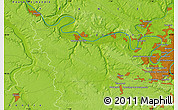 """Physical Map of the area around 48°54'57""""N,1°46'29""""E"""