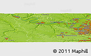 """Physical Panoramic Map of the area around 48°54'57""""N,1°46'29""""E"""
