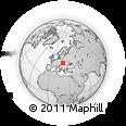 Outline Map of Poprad, rectangular outline