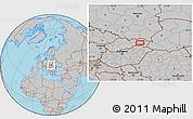 Gray Location Map of Košice