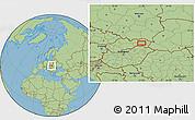 Savanna Style Location Map of Košice