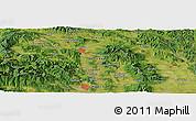 Satellite Panoramic Map of Košice